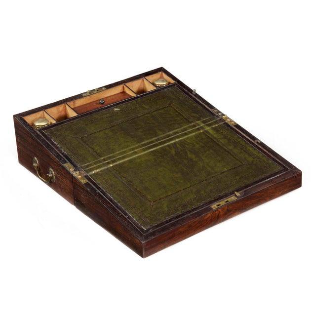 English Regency Rosewood Antique Writing Slope Lap Desk circa 1820-35 For  Sale - Image - English Regency Rosewood Antique Writing Slope Lap Desk Circa 1820