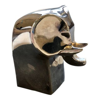 1970s Gunnar Cyren Dansk Silverplate Elephant For Sale