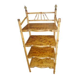 1900s Adirondack Bamboo Wood Bookcase For Sale