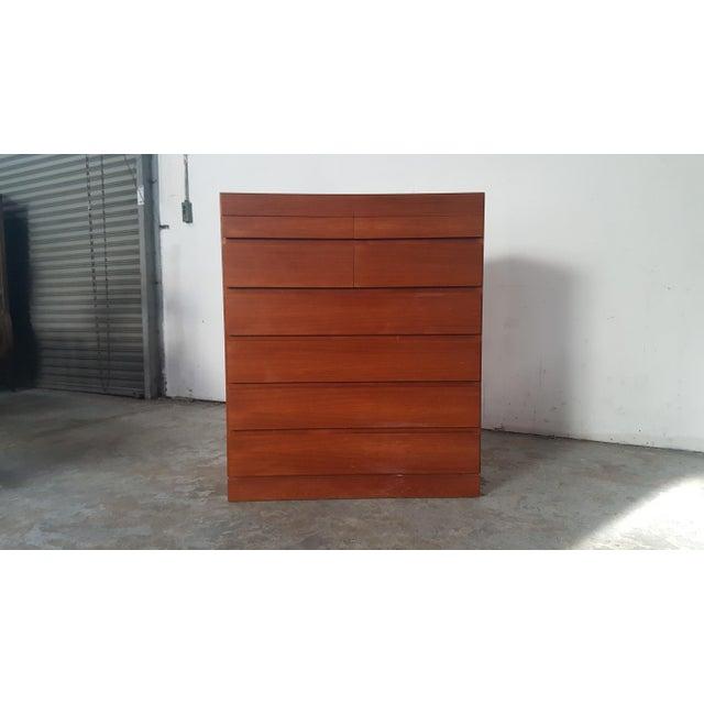 1950s Vintage Arne Wahl Iversen for Vinde Mobelfabrik Teak Dresser For Sale - Image 12 of 12