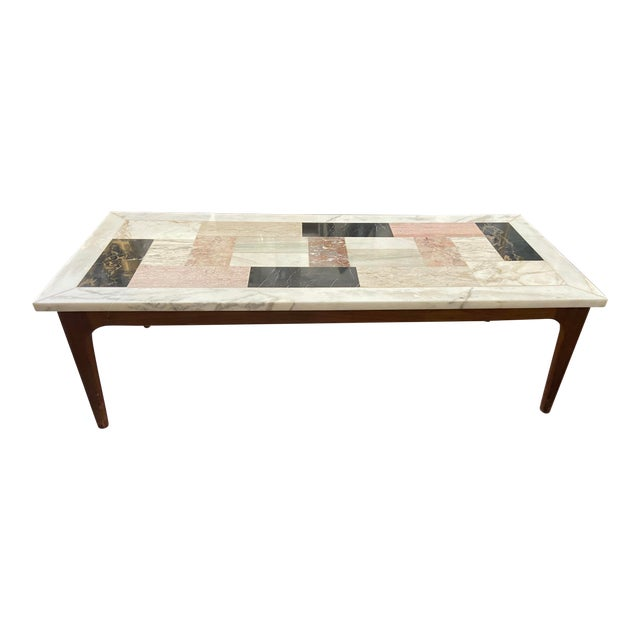 Italian Modern Pietra Dura Marble Specimen Coffee Table For Sale