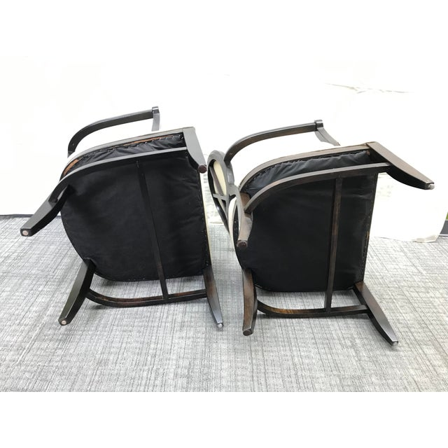 Transitional Barbara Barry Cream Oval X-Back Arm Chairs - a Pair For Sale In Saint Louis - Image 6 of 13