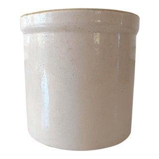 1940s Boho Chic Cream Pottery Crock