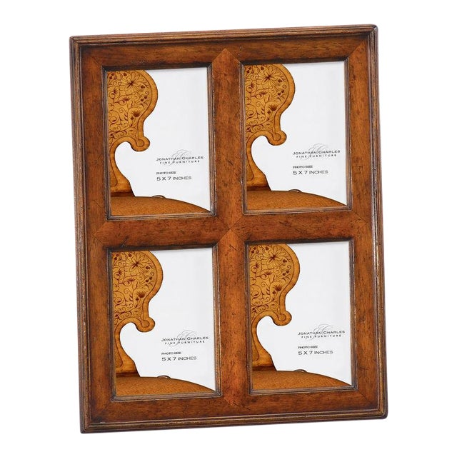 9b4a23e5c11 Jonathan Charles Country Farmhouse Collection Walnut 4 View Frame For Sale