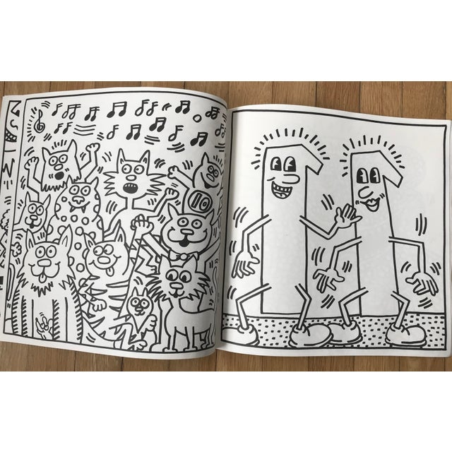 Black 1985 Vintage Keith Haring Coloring Book For Sale - Image 8 of 9