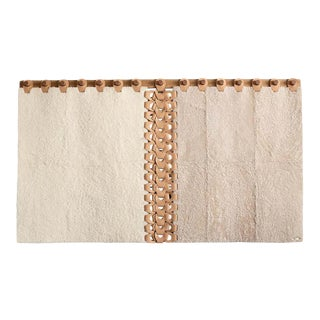 Vertebrae Headboard Tapestry in Soft Neutrals by Moses Nadel For Sale