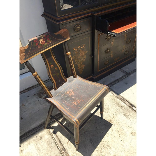 19th Century Hitchcock Style Painted Chairs - a Pair For Sale In Miami - Image 6 of 9