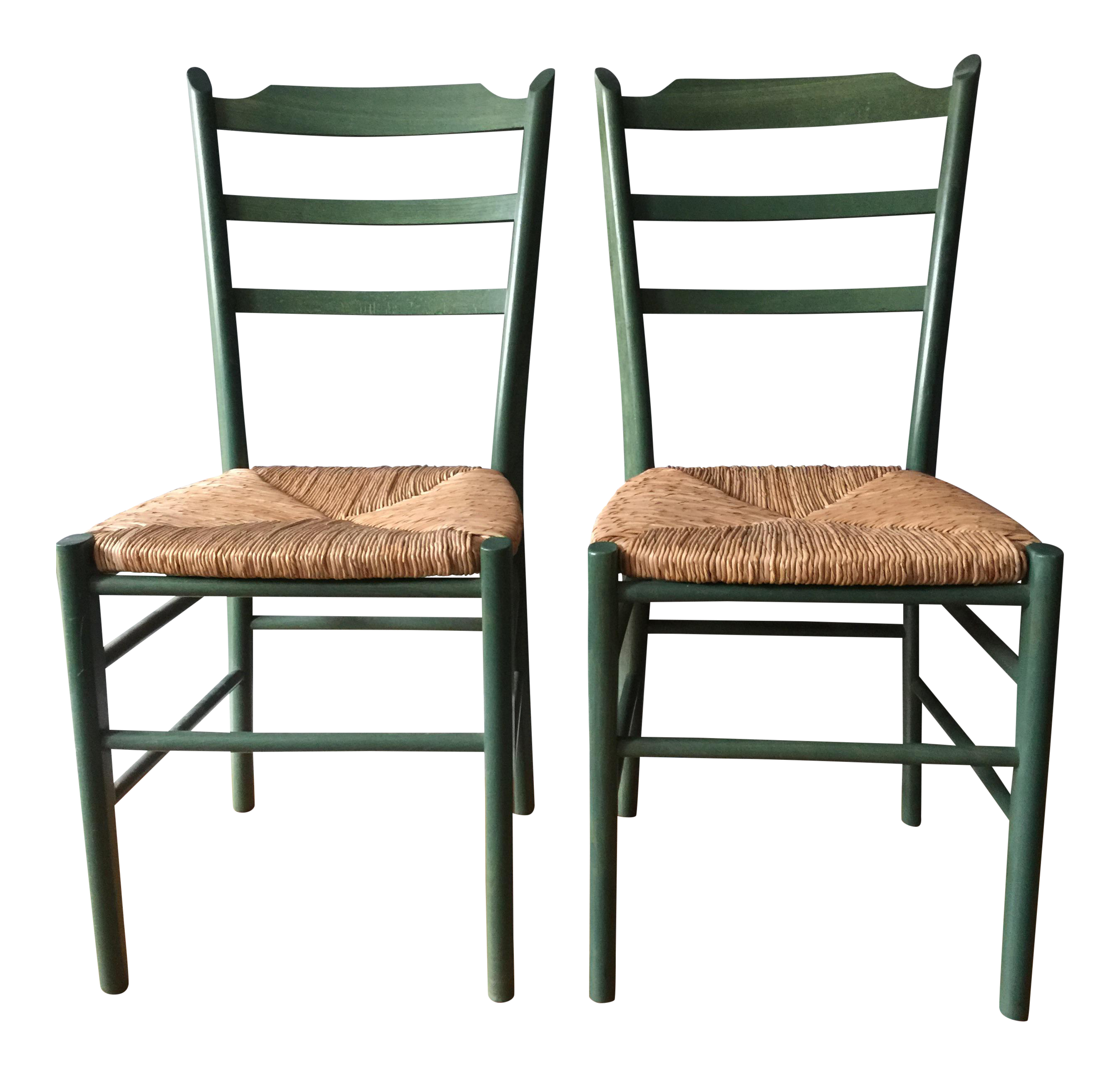 What is shaker style furniture Modern Green Shakerstyle Chairs Pair For Sale Fine Woodworking Green Shakerstyle Chairs Pair Chairish