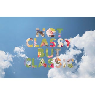 'Not Classy but Classic' Aspen Text Collage Series by Emily Hoerdemann For Sale
