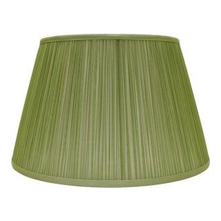 "Shirred Silk Lamp Shade 18"", Avocado For Sale"