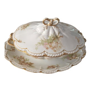Late 19th Century Haviland Covered Tureen With Platter - Set of 3 For Sale