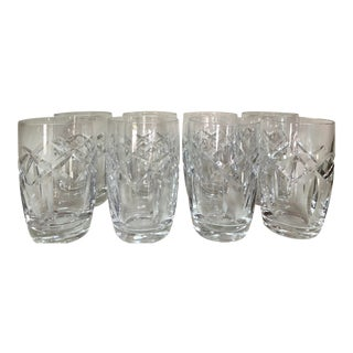 Mid Century Waterford Cut Glass Tumblers - Set of 8 For Sale