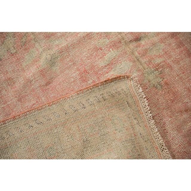 "Cotton Vintage Distressed Oushak Carpet - 6'2"" X 10'8"" For Sale - Image 7 of 13"