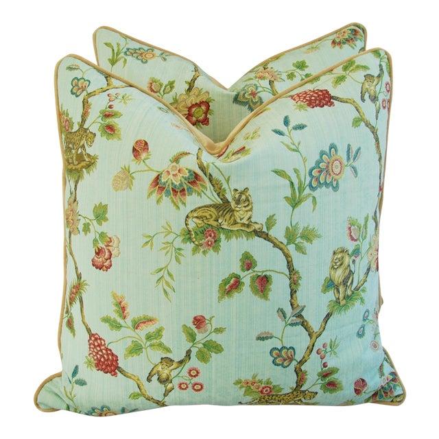 Italian Scalamandre Fleur Des Indes Pillows - Pair - Image 1 of 11