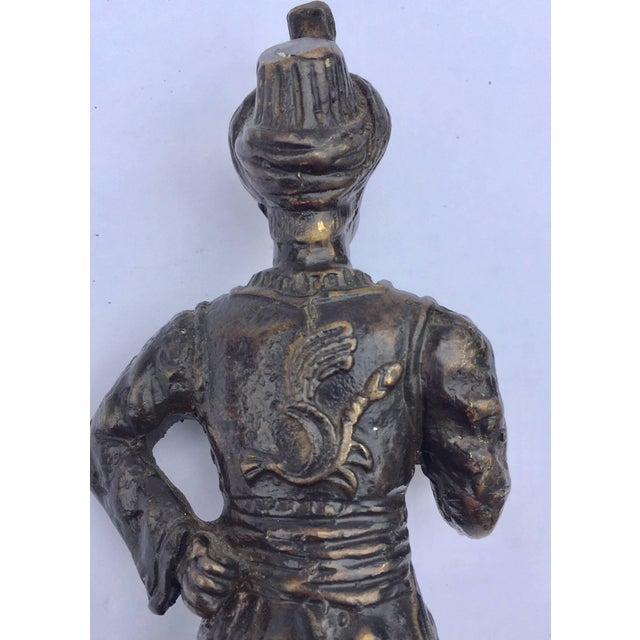 Empire Orientalist Patinated Bronze Figure of a Turkish Young Man For Sale - Image 3 of 13