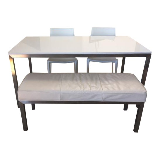 Room & Board Portico Table With Bench & Chairs - Set of 4 - Image 1 of 7