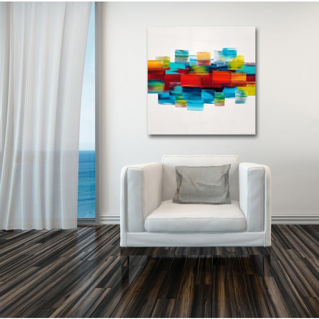 """""""Tranquilite"""" Original Acrylic Painting by Stephanie Rivet For Sale - Image 9 of 10"""