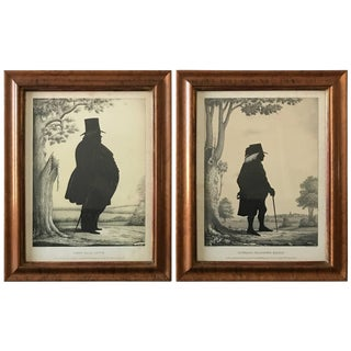 Pair of 19th Century Lithographs of Gentlemen For Sale