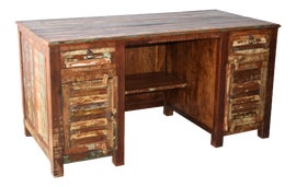 Image of Newly Made Reclaimed Wood Desks