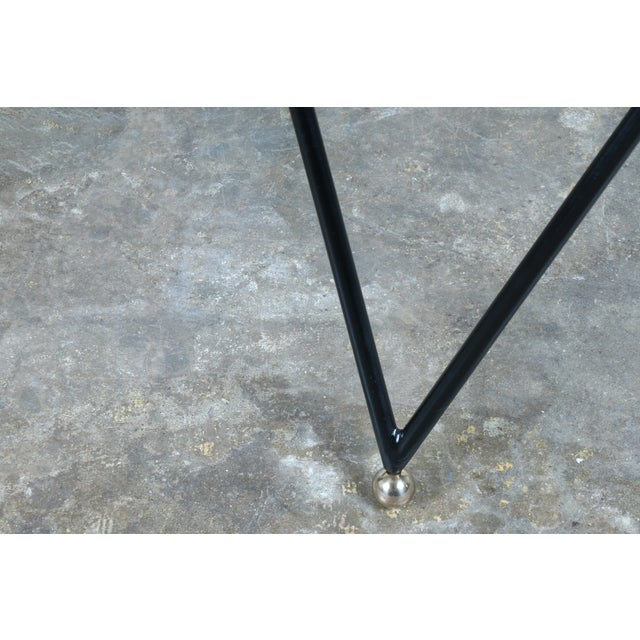 Wrought Iron Marble Top Side Tables - A Pair - Image 10 of 10