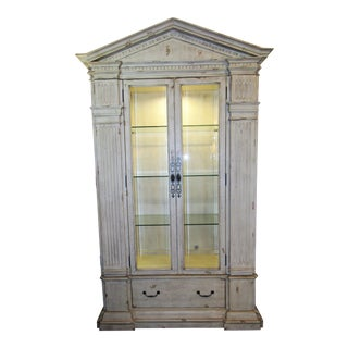Shabby Chic China Display or Curio Cabinet For Sale