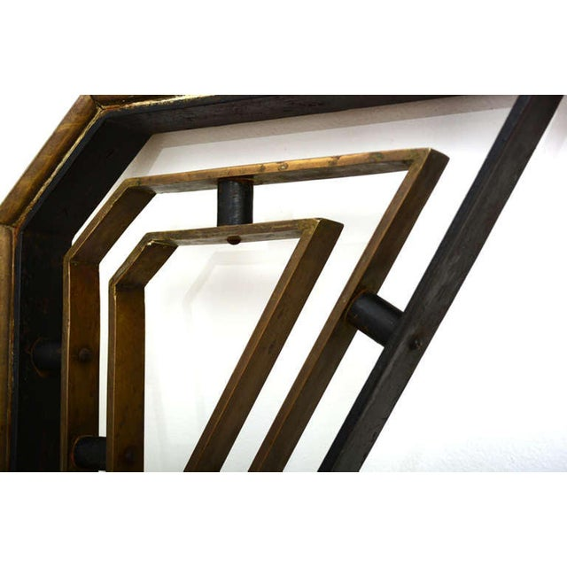 Metal Midcentury Mexican Modernist Talleres Chacon Handrail, Arturo Pani For Sale - Image 7 of 9