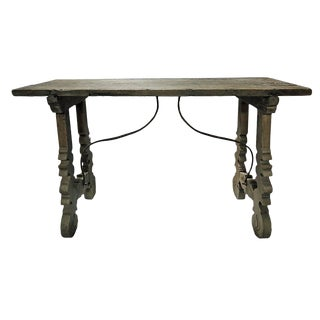 Rustic Country Carved Wood Table