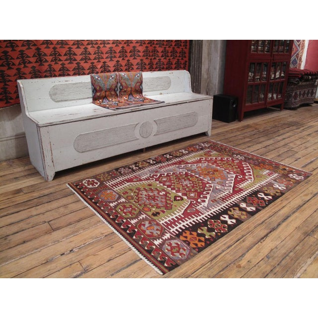 A great Western Anatolian Kilim featuring the classic multiple arches design of this region.