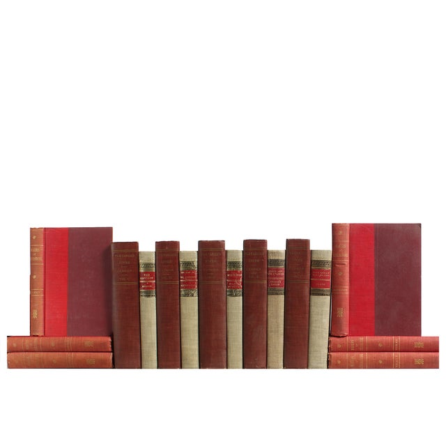 Red & Flax Midcentury Classic Books - Set of 16 - Image 1 of 4