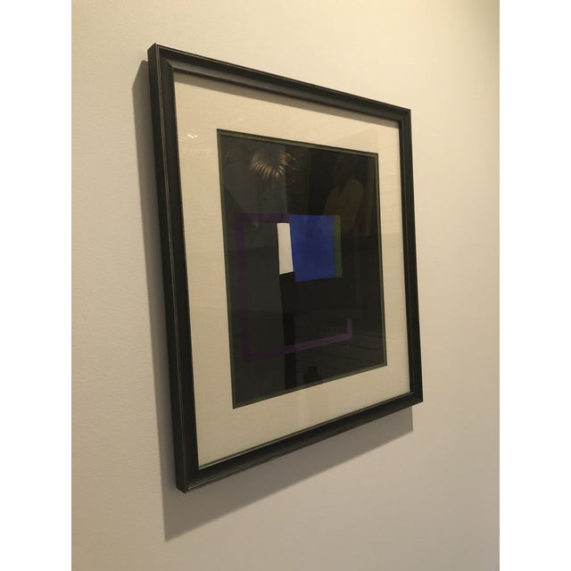 Abstract Bernard Segal Abstract Gouache Painting For Sale - Image 3 of 7