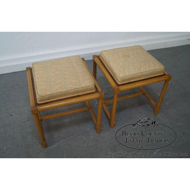 Tommi Parzinger Tommi Parzinger Pair of Stools Reverse Top Low Tables For Sale - Image 4 of 11