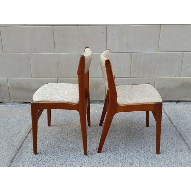 Danish Modern Teak Dining Chairs - A Pair - Image 4 of 7