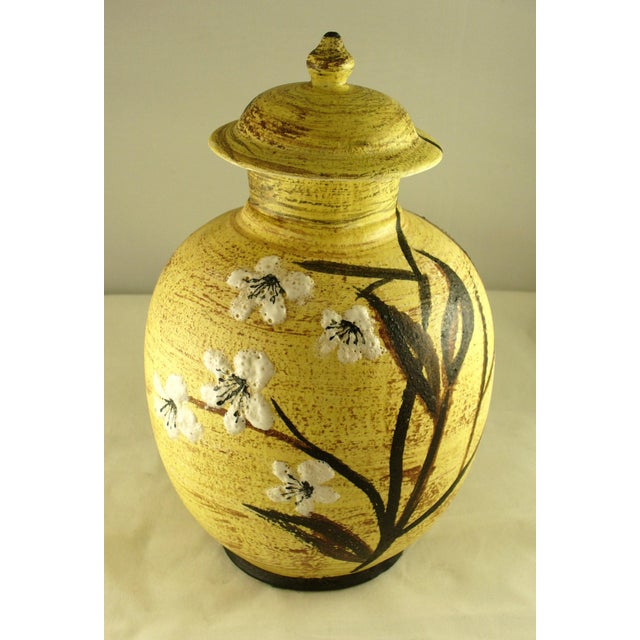 Asian Mid-Century East Asian Style Floral Vase For Sale - Image 3 of 7