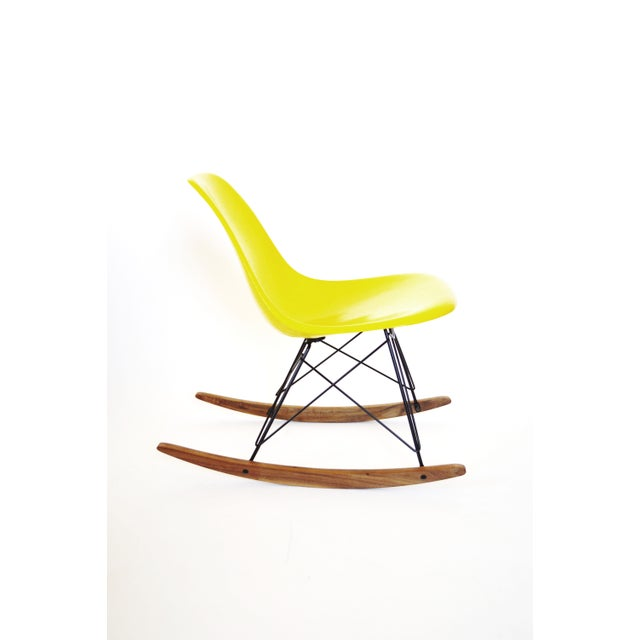 Herman Miller Yellow Fiberglass Rocking Chair For Sale - Image 3 of 8