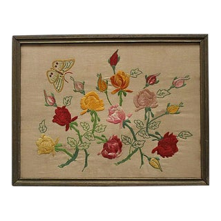 Roses and Butterfly Embroidery