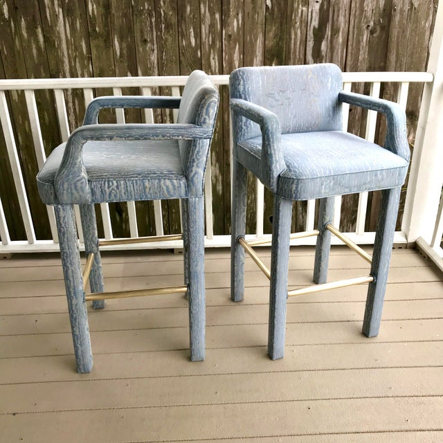 Vintage Parsons Bar Stools - a Pair For Sale In Houston - Image 6 of 8