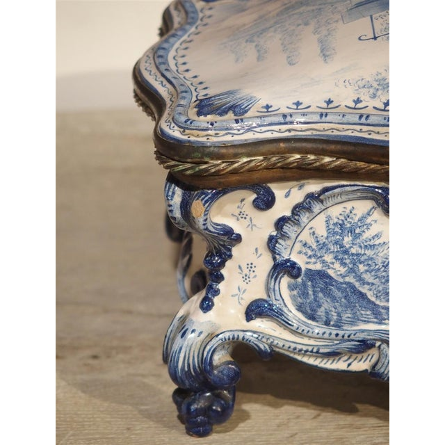 Antique Blue and White Delft Table Box, Late 19th Century For Sale - Image 12 of 13