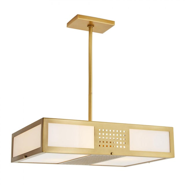 Arteriors Home Celerie Kemble for Arteriors Bisger Square Pendant For Sale - Image 4 of 11