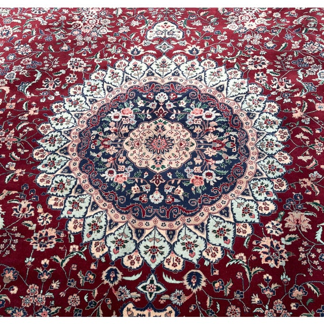 Persian 1990s Huge 12 by 16 Vintage Hand Made Persian Wool Rug For Sale - Image 3 of 8