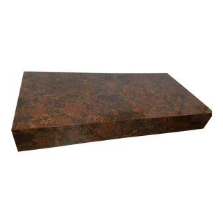 Milo Baughman Style Burl Wood Veneer Coffee Table