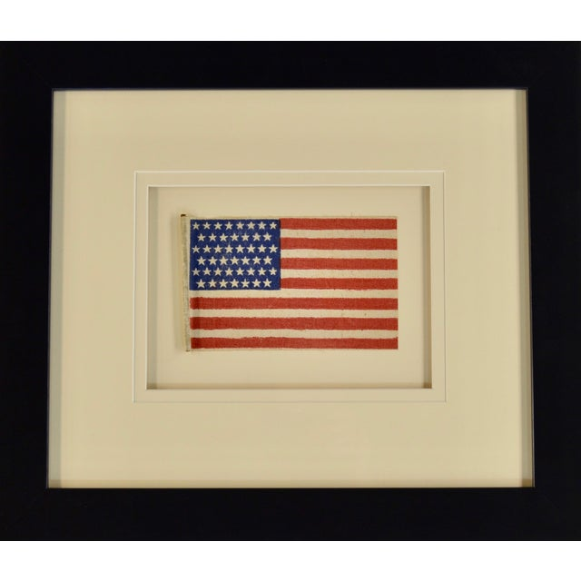 American Late 19th Century Antique 45 Star Flag, 1896 For Sale - Image 3 of 3