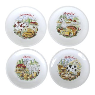 Limoges France Cheese Plates - Set of 4 For Sale