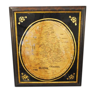 Early 19th Century Sampler Map of England and Wales For Sale