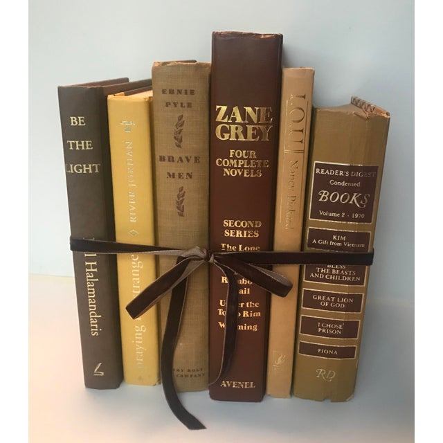 20th Century Americana Rich Gold and Brown Book Bundle - Set of 6 For Sale - Image 12 of 12