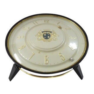Vintage Mid Century Modern Round Magneclock on Stand For Sale