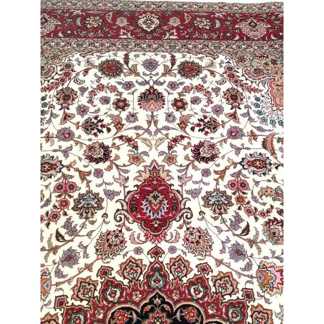 "Pasargad Persian Tabriz Silk & Wool Rug - 8' 3"" X 11' 6"" For Sale - Image 4 of 5"
