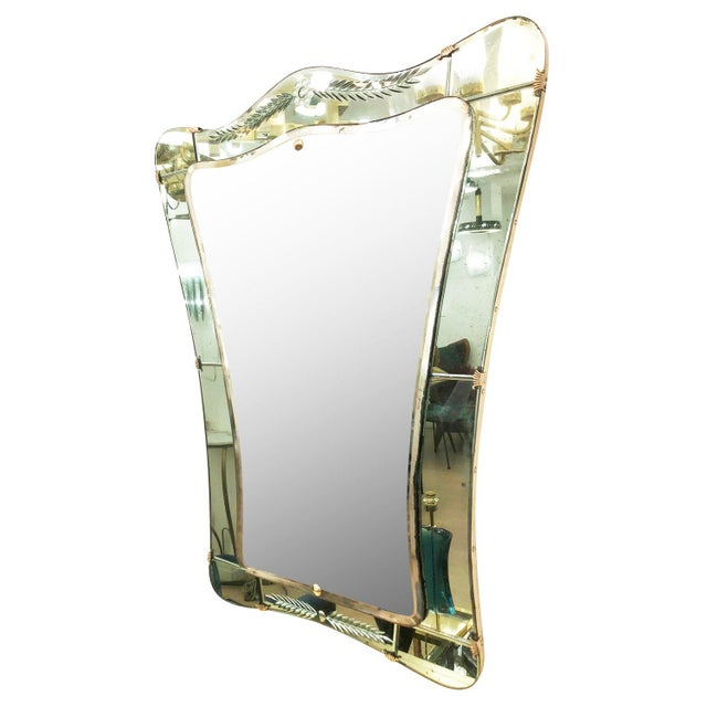 Cristal Arte Cristal Art Mirror, Italy, 1950's For Sale - Image 4 of 8