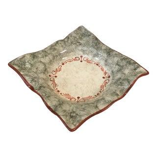 1970s Vintage Italian Ceramic Tray For Sale