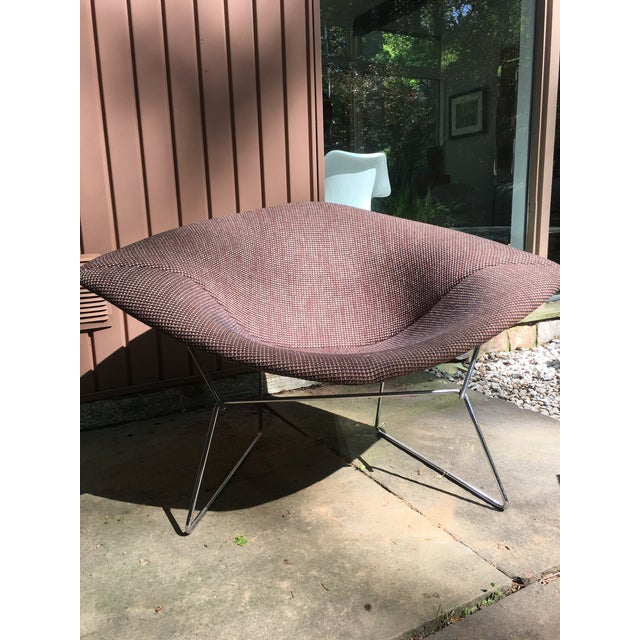 1970s Mid Century Modern Harry Bertoia for Knoll Diamond Lounge Chair - Image 7 of 8
