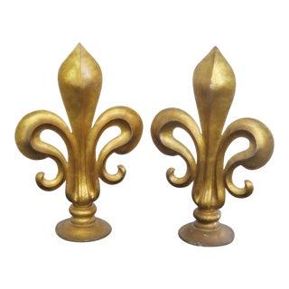 19th Century Italian Fleur-De-Lis Sculptures - a Pair For Sale